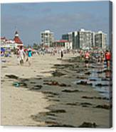 Beach Goers Canvas Print
