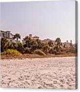 Beach Homes Canvas Print