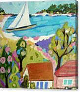 Beach House Island Canvas Print