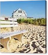 Beach House Sunrise Canvas Print