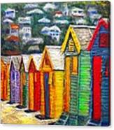 Beach Houses At Fish Hoek Canvas Print