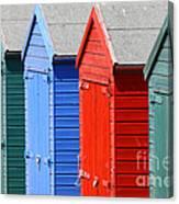 Beach Huts 3 Canvas Print