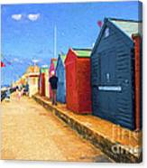 Beach Huts At Cromer Canvas Print