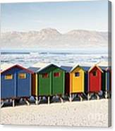 Beach Huts At Muizenberg Canvas Print