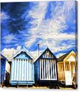 Beach huts at Southend Canvas Print
