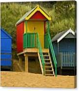 Beach Huts At Wells Next To Sea 1 Canvas Print