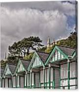 Beach Huts Langland Bay Swansea 3 Canvas Print