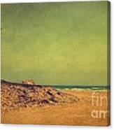 Beach In Autumn Canvas Print