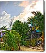 Beach In Front Of Colinda's Cabanas Canvas Print