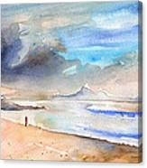 Beach In Lanzarote Canvas Print