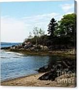 Beach In Maine Canvas Print