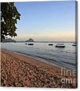Beach In Mauritius  Canvas Print
