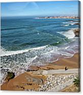 Beach In Resort Town Of Estoril Canvas Print