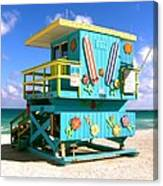Beach Life In Miami Beach Canvas Print