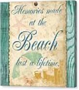 Beach Notes-a Canvas Print