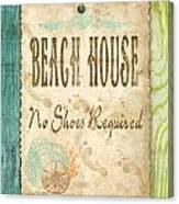 Beach Notes-d Canvas Print