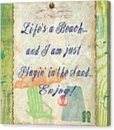 Beach Notes-e Canvas Print