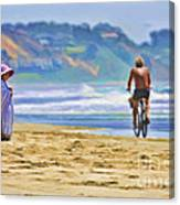 Beach Of Life Large Crop Canvas Print