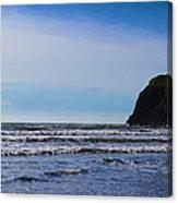 Beach On The Oregon Coast Canvas Print