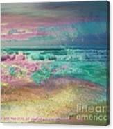 Beach  Overcast Canvas Print