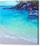 Beach Painting - A Day To Remember Canvas Print