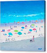 Beach Painting - Happy Days Canvas Print