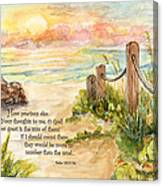 Beach Post Sunrise Psalm 139 Canvas Print