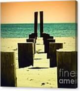 Beach Pylons Canvas Print
