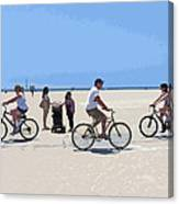Beach Riders Canvas Print