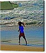 Beach Run Canvas Print