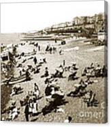 Beach Sean France  Circa 1900 Canvas Print