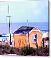 Beach Shack At Nags Head Canvas Print