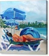 Beach Siesta Canvas Print