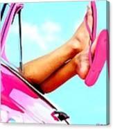 Beach Slippers - Summer Time Serie Canvas Print