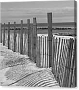 Beach Snow  Canvas Print