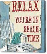 Beach Time 1 Canvas Print