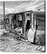 Beach Trailer Bw Canvas Print