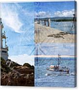 Beach Triptych 2 Canvas Print