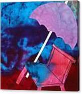 Beach Umbrella Canvas Print