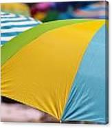 Beach Umbrella Rainbow 1 Canvas Print