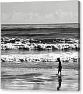 Beach Walker 30 Canvas Print