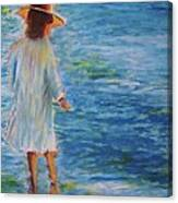 Beach Walker Canvas Print