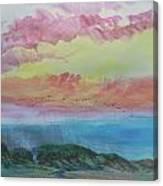 Beach Watercolor 2 Canvas Print