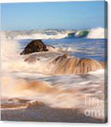 Beach Waves Smoothly Flowing Over The Rocks Fine Art Photography Print Canvas Print