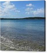 Beach Waves Wide Canvas Print