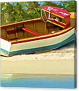 Beached Fishing Boat Of The Caribbean Canvas Print
