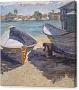 Beached In Long Beach Canvas Print