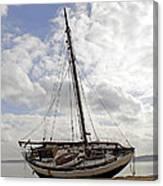 Beached Sailboat Canvas Print