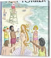 Venus On The Beach Canvas Print