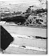 Beachside Warning Horizontal Grayscale Canvas Print